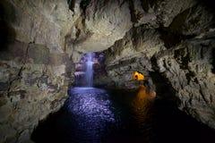 Smoo grotta Durness Arkivbild