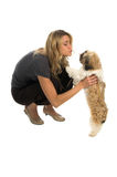Smooch del cane Immagine Stock