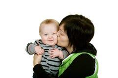 Smooches de maman photographie stock