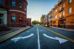 Smoort Plaats, in Greensboro van de binnenstad, Noord-Carolina Stock Foto's