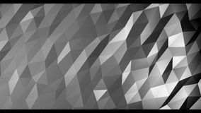 Smooth animation of low poly graphics for the background in 4k at 60 fps. Abstract colored polygonal geometric surface