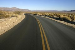 Smooth asphalt road in the desert of Arizona. Usa royalty free stock images