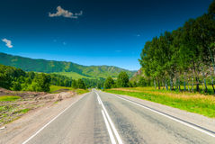 Smooth automobile route passing Royalty Free Stock Photos