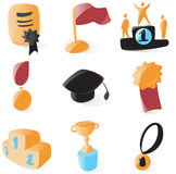 Smooth awards icons Royalty Free Stock Image