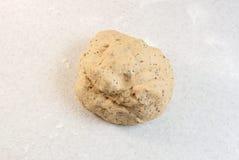 Smooth ball of freshly-kneaded bread dough stock photo