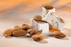 Smooth belgian honey and almond nougat Royalty Free Stock Photo