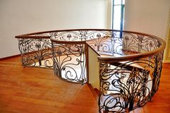Smooth bends serve to decorate the interior of the villa, located on the beach, at the very edge of the water. stock photo