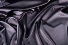 Smooth black satin Stock Photos