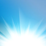 Smooth blue light abstract background Stock Images