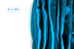 Smooth blue Satin background Stock Images