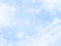 Smooth blue with stars Royalty Free Stock Images