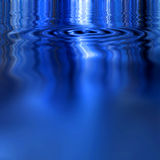 Smooth Blue Water Stock Photography