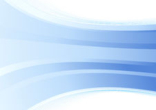 Smooth blue wave background Stock Images