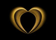 Smooth blurred golden heart background Stock Photos