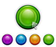 Smooth buttons Stock Photos