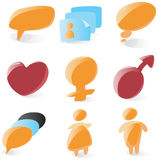 Smooth chat icons Stock Images