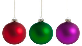 Smooth Christmas Balls Royalty Free Stock Photo