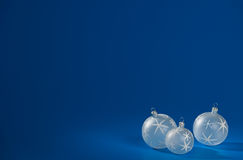 Smooth Christmas Baubles Royalty Free Stock Images