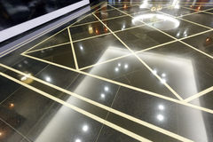 Smooth and clean granite floor Stock Images