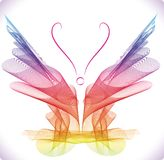 Smooth colorful abstract butterfly Royalty Free Stock Images