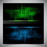 Smooth colorful abstract techno background. Vector illustration Stock Image