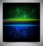 Smooth colorful abstract techno background Royalty Free Stock Photos