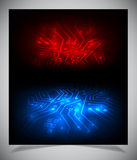 Smooth colorful abstract techno background. Royalty Free Stock Photos