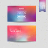 Smooth colorful background design for business card Stock Photos