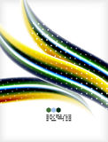 Smooth colorful business elegant wave design Royalty Free Stock Photography