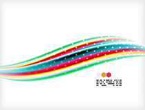 Smooth colorful business elegant wave design Stock Photography