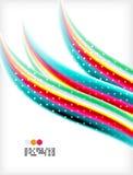 Smooth colorful business elegant wave design Stock Images