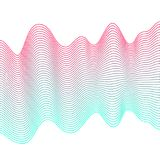 Smooth colorful waves on white background. Abstract vector dotted lines. Blend effect. Pink and blue wave Stock Photo