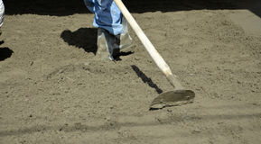 Smooth concreting the  floor Stock Image