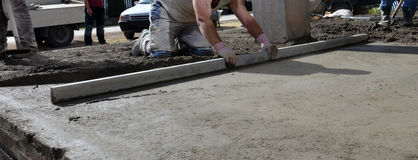 Smooth concreting the  floor Stock Photo