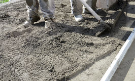 Smooth concreting the  floor Stock Images
