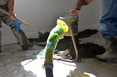 Smooth concreting the  floor Stock Photos