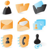 Smooth contacts icons Stock Photo