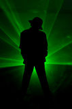 Smooth Criminal. A silhouette of a Michael Jackson impersonator on the stage Stock Photography