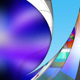 Smooth  curve lines  on  abstract  background. Smooth curve lines  on  abstract  background Stock Photo