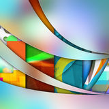 Smooth  curve lines  on  abstract  background Royalty Free Stock Image