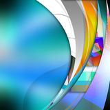 Smooth  curve lines  on  abstract  background Stock Image