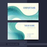 Smooth curve lines background business card template Stock Photos