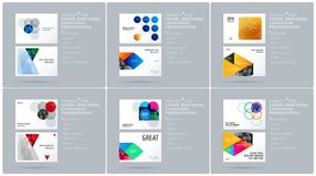 Smooth design presentation template with colourful round shapes. Partnership collaboration Royalty Free Stock Photos