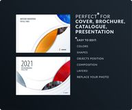 Smooth design presentation template with colourful round shapes. Abstract vector set of modern horizontal banners. Smooth design presentation. Abstract vector Stock Photos