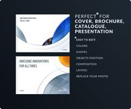 Smooth design presentation template with colourful round shapes. Abstract vector set of modern horizontal banners. Smooth design presentation. Abstract vector Stock Photography