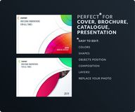 Smooth design presentation template with colourful round shapes. Abstract vector set of modern horizontal banners. Smooth design presentation. Abstract vector Royalty Free Stock Photography