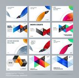 Smooth design presentation template with colourful round shapes. Abstract vector set of modern horizontal banners. Smooth design presentation. Abstract vector Stock Image