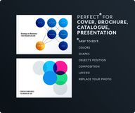 Smooth design presentation template with colourful round shapes. Partnership collaboration. Smooth design presentation. Abstract business vector set of round Royalty Free Stock Photos