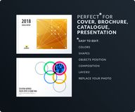 Smooth design presentation template with colourful round shapes. Partnership collaboration Royalty Free Stock Images
