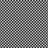 Smooth Diagonal Gingham Seamless Pattern. Smooth diagonal black and white classic gingham texture stock illustration